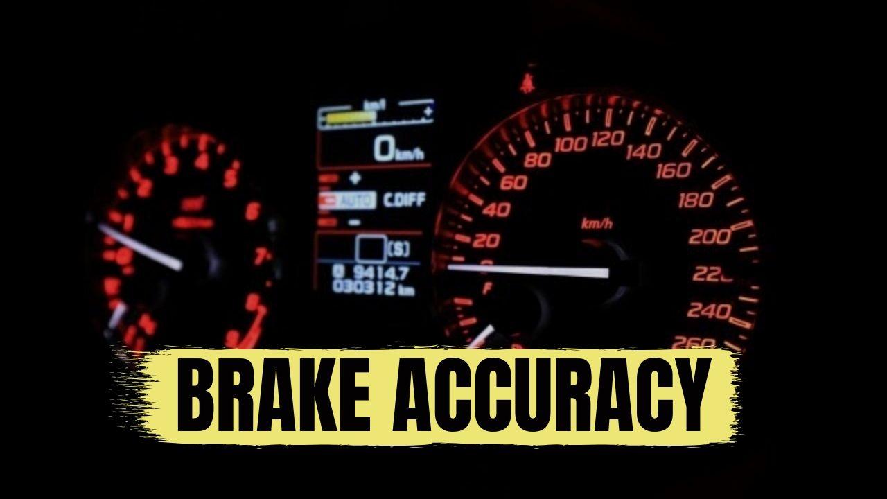 ブレーキの精度を高めているから