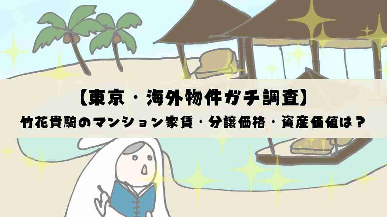 竹花貴騎のマンション家賃・分譲価格・資産価値はいくら?【東京・海外物件ガチ調査】