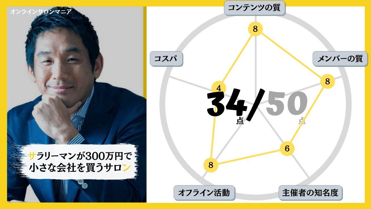 サラリーマンが300万円で小さな会社を買うサロン評価